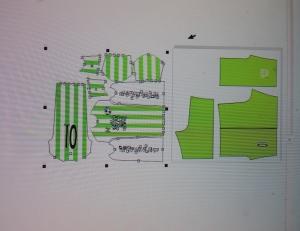 grafico di progettazione sublimazione su abbigliamento sportivo  - Questo è una Dima dove viene montata la grafica  per sublimare poi l abbigliamento  sportIvo in questo caso da calcio, sono innumerevoli le grafiche realizzabili